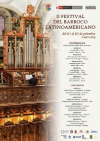 For the second consecutive year will host Cusco Baroque Festival Latinoamericano