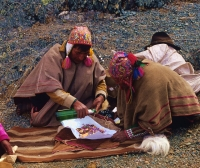 Cusco prepare thanksgiving to Pachamama(mother earth)